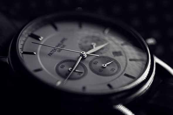 macro shot patek philippe watch