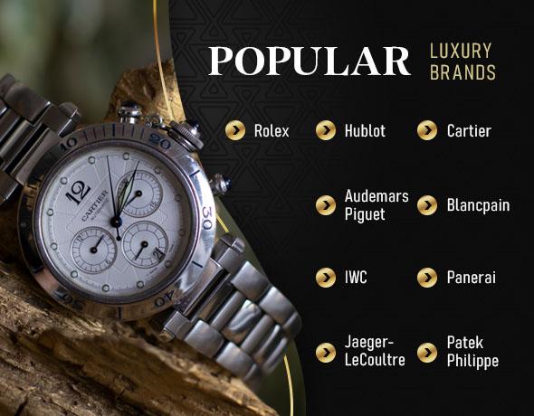 most popular luxury brand watches