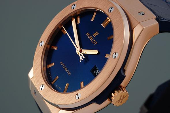 rose gold hublot watch face